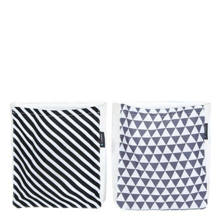 Manis-h 2 Bed Pockets in a Stripe and Triangle Design